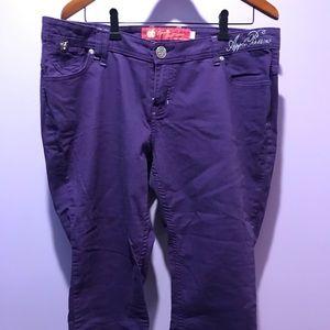 Apple Bottom Purple Capri Jeans